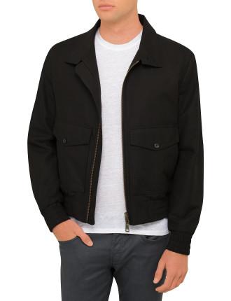 High Collar Zipped Jacket