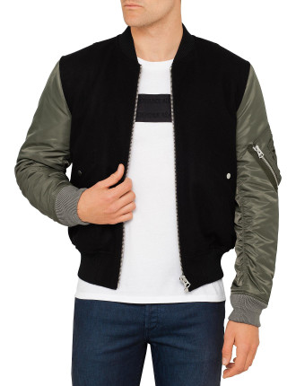 Bomber Jky With Contrast Sleeves