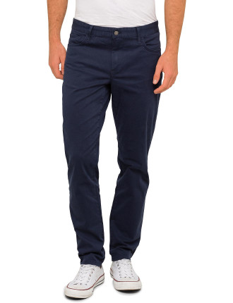 Grant 5-Pocket Contrast Twill Pant
