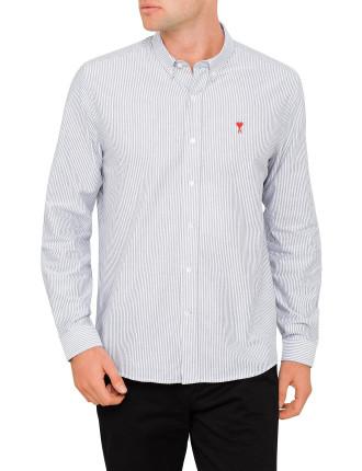 Men Button Down Shirt Ami De Coeur Embroidery