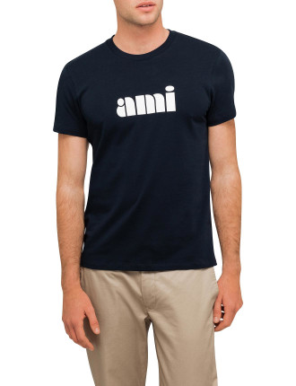 Men Ami Printed Crew Neck Tshirt