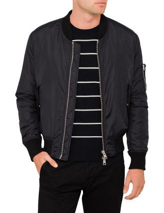 Men Zipped Bomber Jacket