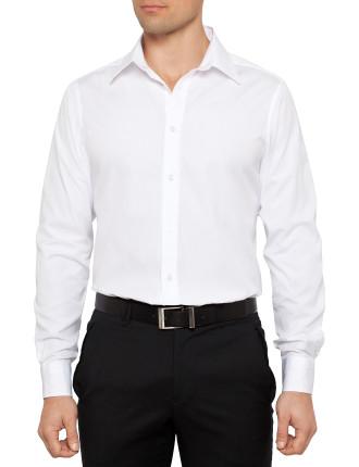 Long Sleeve Poplin Button Down Plain Shirt
