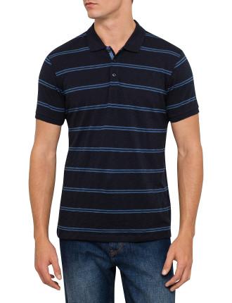 Short Sleeve Yd Stripe Slub Polo