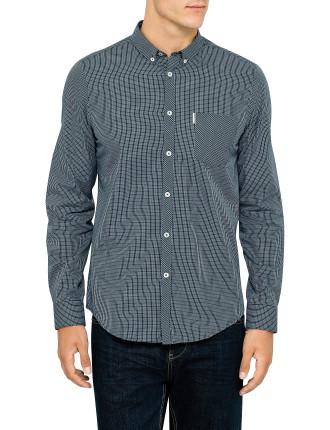 Long Sleeve Mod Mini Check Shirt