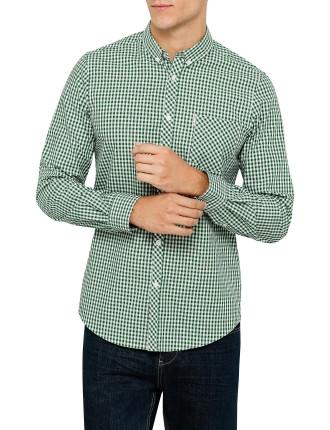 Long Sleeve Mod Gingham Check Shirt