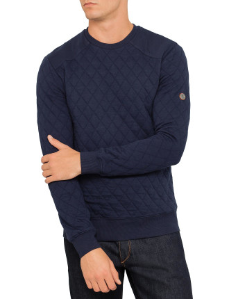 Long Sleeve Crew Quilted Sweat