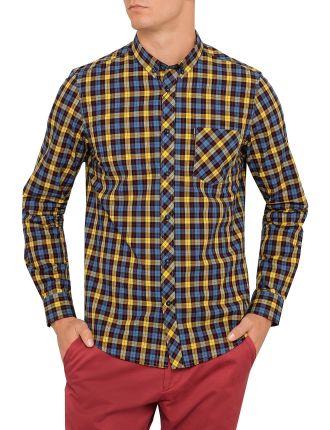Long Sleeve Mod Pop Tartan Check Shirt