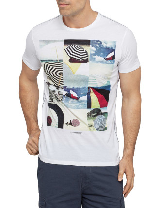 Short Sleeve Umbrella Collage Graph Tee