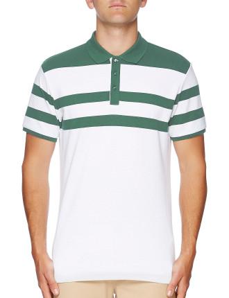 Tennis Stripe Pique Polo