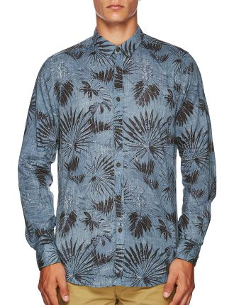 Long Sleeve Jungle Print Shirt