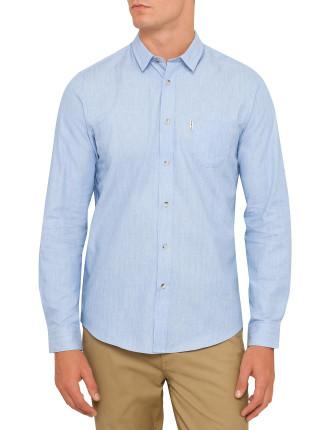 Long Sleeve Mod Marl Herringbone Shirt