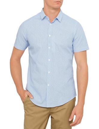 Short Sleeve Soho Stripe And Spot Shirt