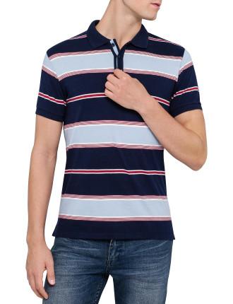 Ss Yd Stripe Jersey Polo