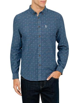 Ls Mod Bonded Fabric Shirt