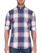 Long Sleeve Linen Style Check Shirt $59.00
