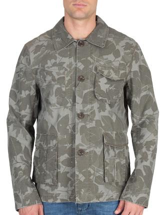 Camo Leaf Print Jacket
