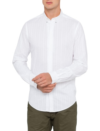 Long Sleeve Mini Spear Collar Shirt