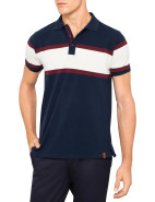 Short Sleeve 3 Stripe Pique Polo $79.95