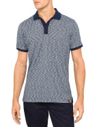 Short Sleeve Yarn Dyed Slub Polo $69.95