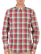 Long Sleeve Contrast Buttons Check Shirt $99.95