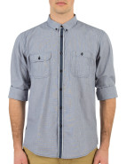 Long Sleeve Houndstooth Placket Shirt $99.95
