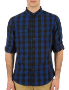 Long Sleeve Check Tab Roll Shirt $99.95