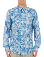 Long Sleeve Marbled Flower Print Shirt $149.95