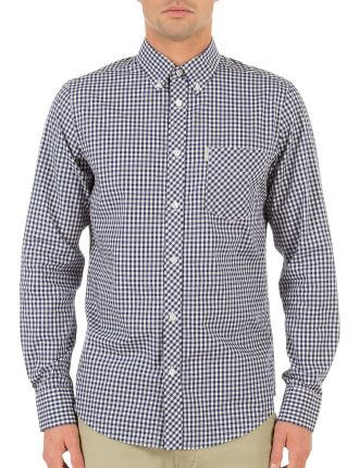 Long Sleeve 1 Pocket Check Shirt