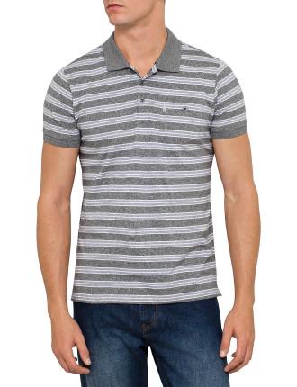 Short Sleeve Yd Stripe Marl Polo