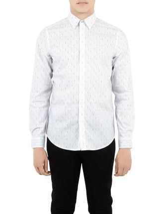 Ls Pindot Optic Geo Shirt
