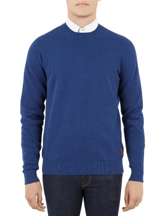 The Textured Optical Crew Neck Knit