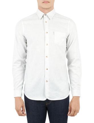 Ls Plain Marl Shirt