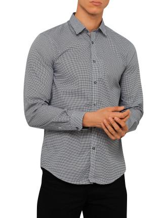 Ls Micro Geo Print Shirt