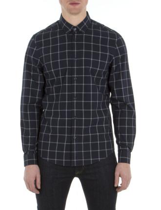 Ls Yarn Windowpane Shirt