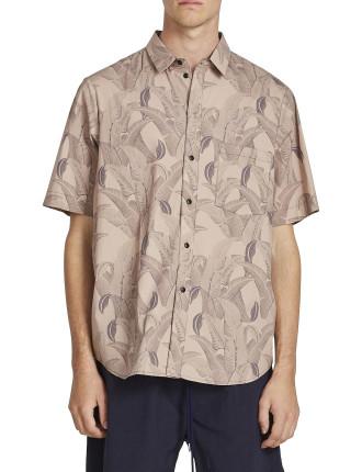 Palm Print S/S Shirt