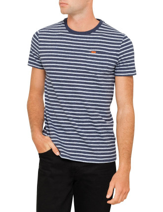 RUSTIC STRIPE POCKET TEE