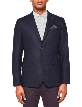 Semi Plain Wool Blazer