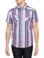Short Sleeve Multi Coloured Check Shirt $29.97