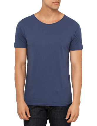 Basic Slim Neck Crew Tee
