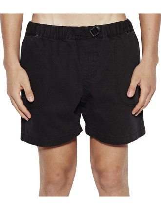 Elasticated Waxed Denim Short