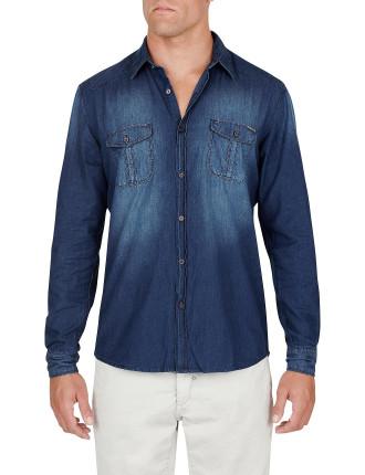 Plain Denim Shirt