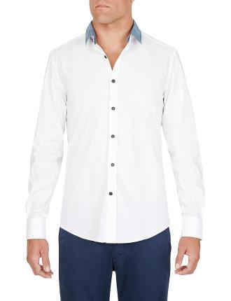 Slim Denim Shirt With Detachable Neck