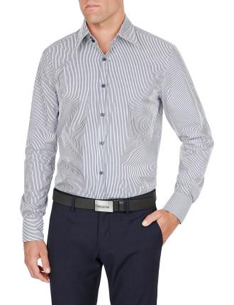 Slim Shirt W/ 2 Button On Neck