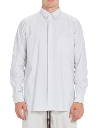 Stripe Square Tail Shirt