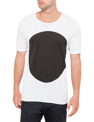 White Marl W Blk Dot T Shirt
