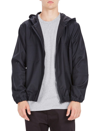 Zip Detail Hooded Jacket