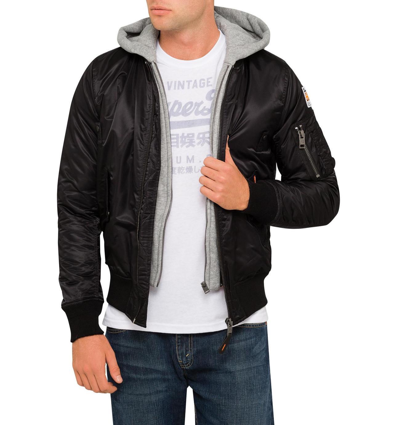 Mens jacket david jones - Real Rookie Flight Bomber