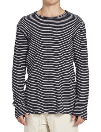Stripe Waffle L/S T.Shirt