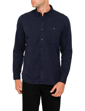 Oxford Btd L/S Pocket Shirt